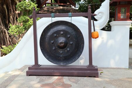 Old bell gong in temple