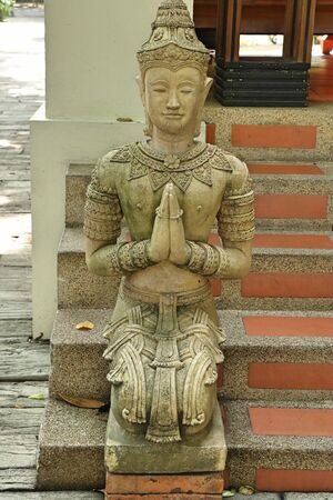 Statue decorating in the garden