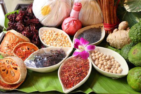 Thai spa aromatherapy massage herb Reklamní fotografie