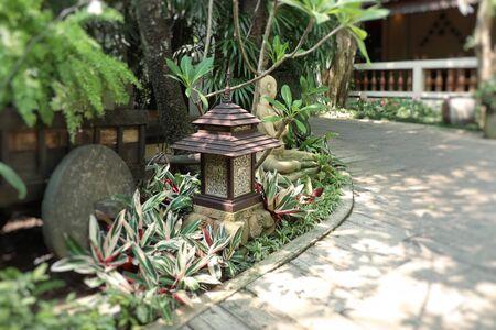 Lighting decoration in the garden Banco de Imagens