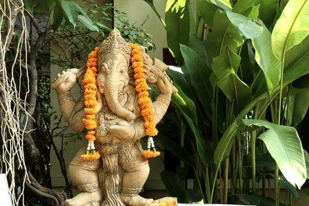 Ganesha in decoration the garden Stockfoto