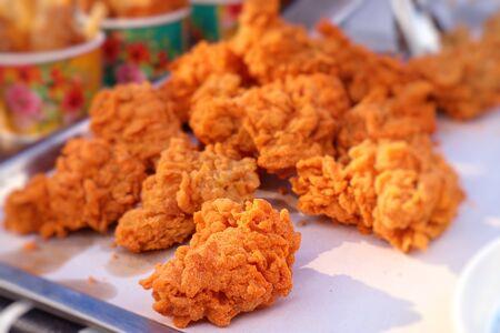Fried chicken at street food Reklamní fotografie