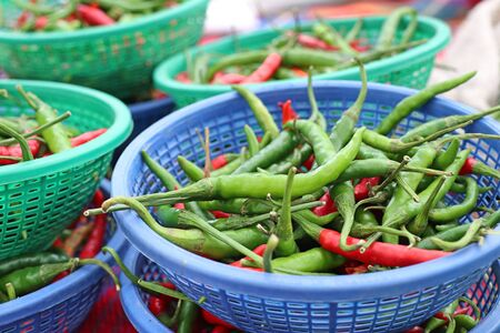 Fresh chilli at the market 写真素材