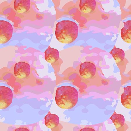 aquarelle: Watercolor seamless pattern. Aquarelle polka dot on white background