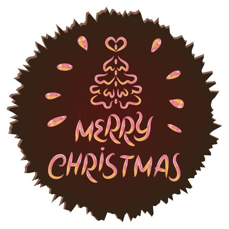 inscribed: Merry Christmas inscribed in a Chocolate Circle
