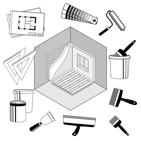 rung: Infographics Template Isometric Grayscale Illustration