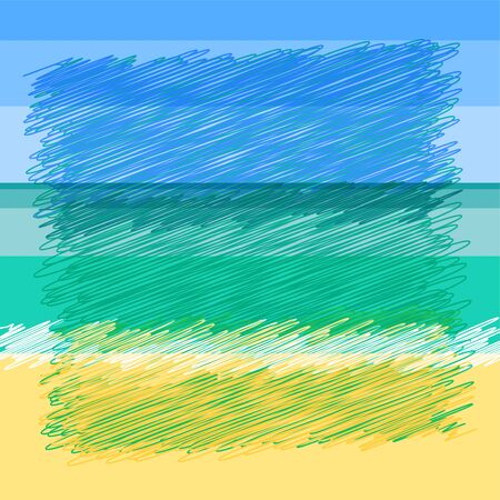sand beach: Sky, sea, sand beach - abstract background. Summer Tropical Sea - yellow sand, Turquoise water surface and sky of blue