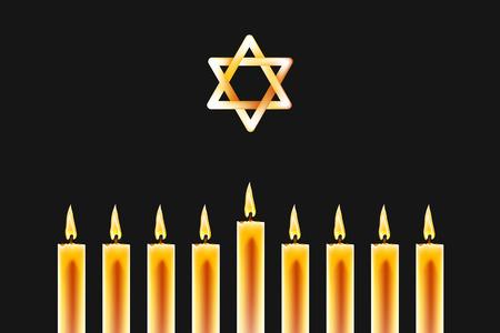 Christmas Banner for Hanukkah Chanukah. Greeting card for Israel jewish holiday holiday.