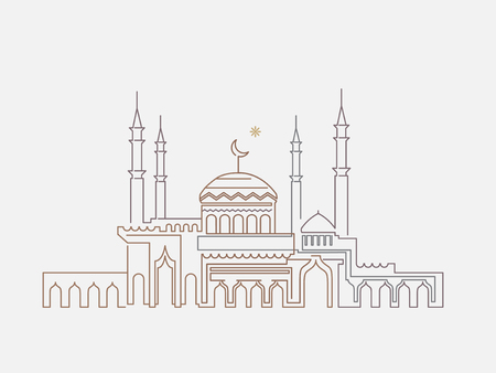 Mosque lineart ramadan