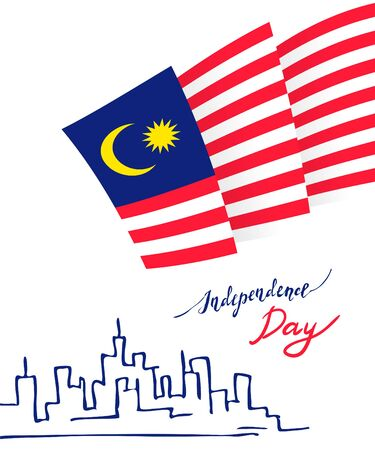 Malaysia Independence Day Illustration