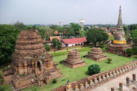 Stupas at the Wat Yai Chai Mongkhon in Ayutthaya, Thailand photo