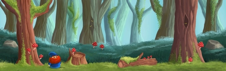 Magic forest game location. Platform game design