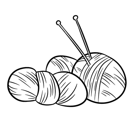 Yarn doodles. For print, creative design. Vector illustration.