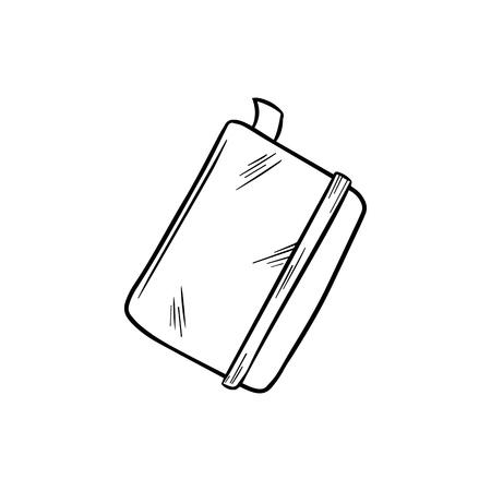 Croquis de vecteur de bloc-notes. Illustration de tirage à la main. Vecteurs