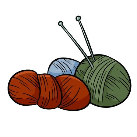Colorful yarn doodles. For print, creative design. Vector illustration. Illustration