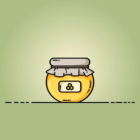 Honey jar web icon. Vector illustration in flat style