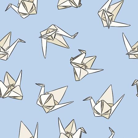 Origami. Roter Kran, Der Auf Der Hand Der Frauen Sitzt. Stockfoto - Bild  von dekorativ, papier: 11480542 | 450x450
