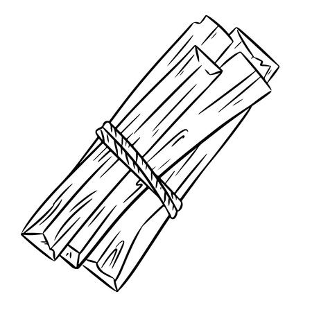 Bâtonnets d'arôme de bois sacré Palo Santo d'Amérique latine. Paquet d'encens brûlant des taches