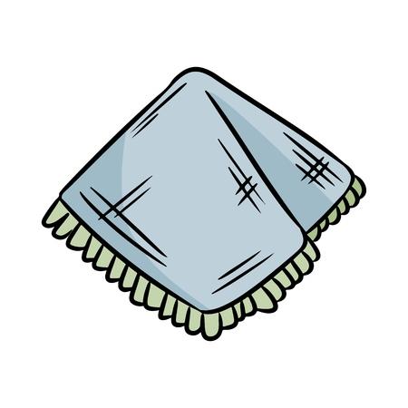 Taschentuch aus Naturmaterial. Ökologische und abfallfreie Serviette. Gewächshaus und plastikfrei Vektorgrafik