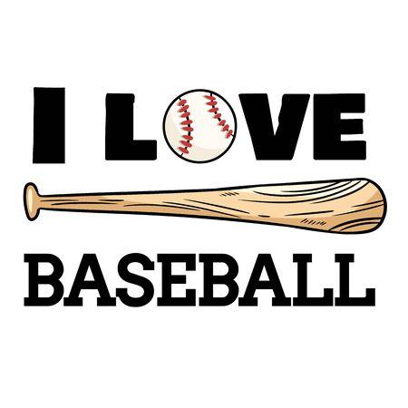 I love baseball sport design. Baseball ball and bat print