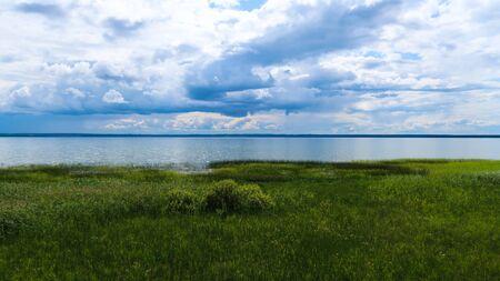 Plescheevo-lake in Pereslavl-Zalessky, Russia. Picturesque view