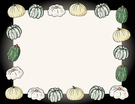 Autumn cute cozy banner with pumpkins. Autumn festive poster. Fall harvest flyer