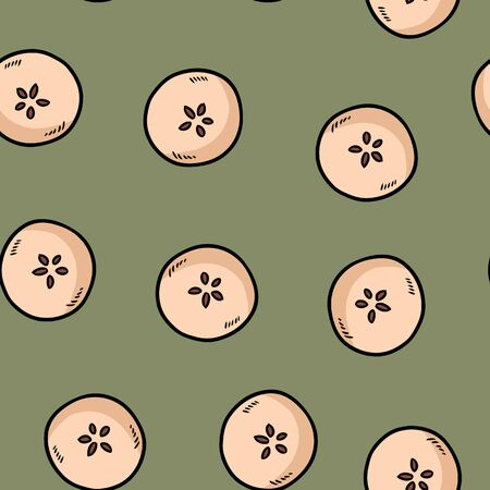 Cute cut in half apples natural drawn seamless pattern wallpaper. Cartoon style decoration background tile