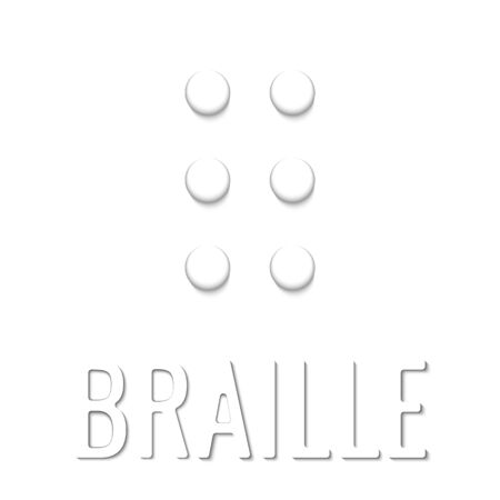 Braille paper style vector icon. Simple element illustration white paper 3d style image concept