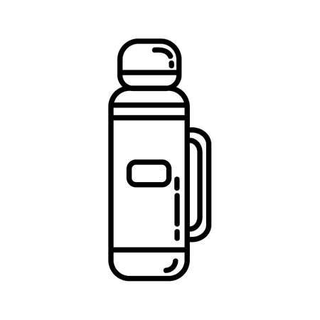 Trekking bottle flat line icon.