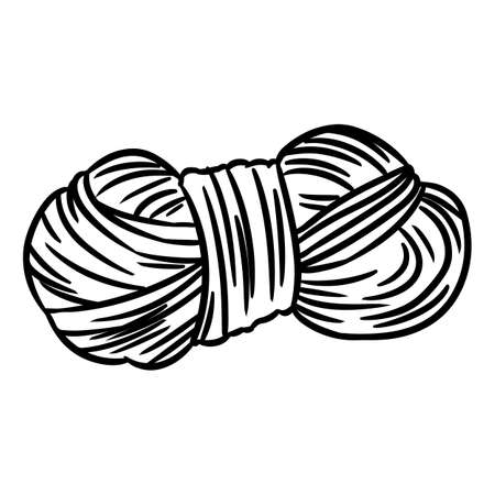 Cute cartoon yarn doodle image. Hand made  . Media highlights graphic symbol