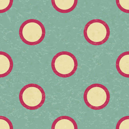 Circus carnival retro vintage polka dot seamless pattern. Colorful circles on background. Textured old fashioned retro graphic template. Vector texture background tile