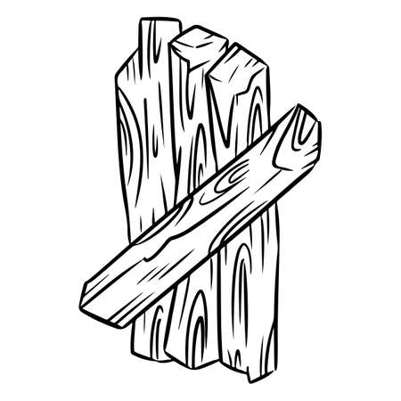 Palo Santo. Holy wood tree aroma sticks from Latin America. Smudge burning incense bundle vector image