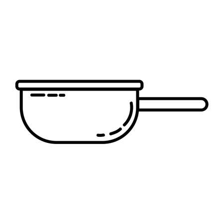 Tin camping plate flat line icon. Metal utensil element vector stock isolated image on white background. Glyph pictogram for web, mobile and infographics