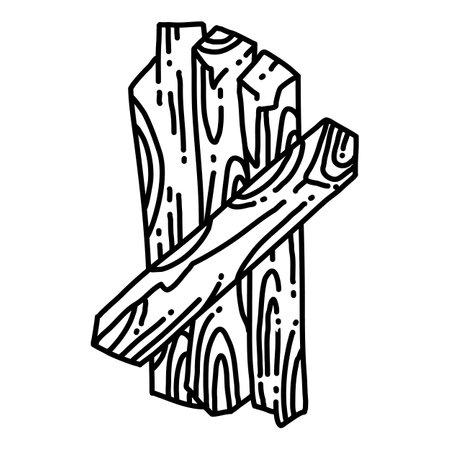 Palo Santo. Holy wood tree aroma sticks from Latin America. Smudge burning incense bundle flat style vector image