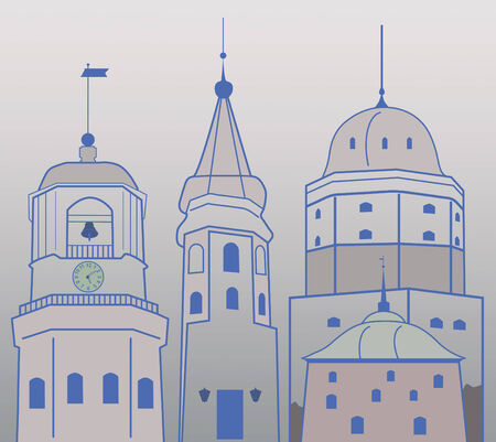 vyborg: Towers of the medieval town