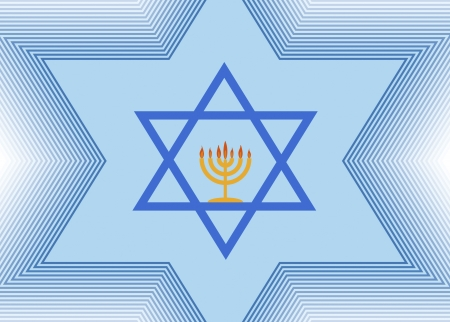 The Star of David and Menorah