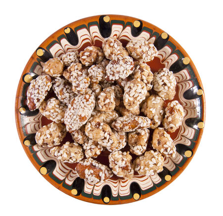Almonds with sesame photo