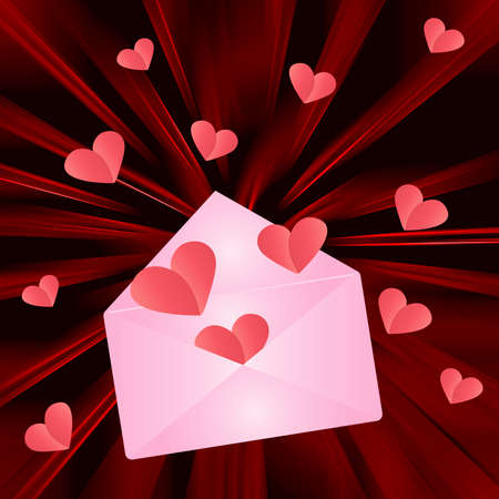 Envelope with hearts photo