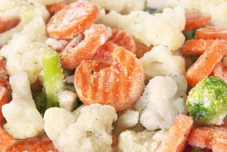 Frozen vegetables mix photo