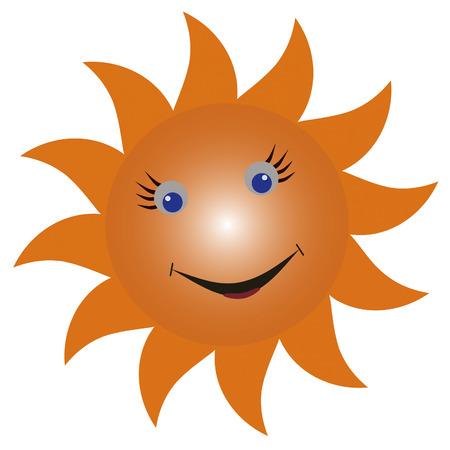 genial: Smiling sun