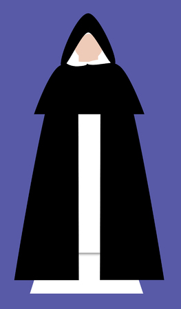 cowl: A  catholic monk of the Dominican order in habit