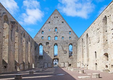 Ruins of St. Brigitta convent in Pirita region, Tallinn, Estonia