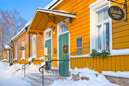 LAPPEENRANTA, FINLAND - FEBRUARY 18, 2010: Majurska Cafe in Willmanstrand Fortrss last territory. House was built in the mid 18th as a residential building for the families of the officers
