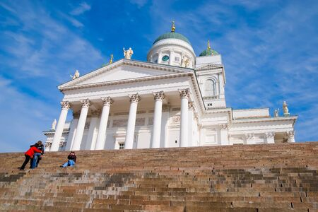 engel: Helsinki. Finland. Senate Square. Helsinki  Cathedral also known as a St Nicholas Church