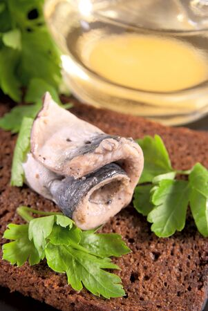 marinated: Roll of the marinated sprat