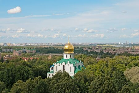 orthodoxy: Tsarskoye Selo Pushkin, Saint-Petersburg, Russia. Feodorovsky Cathedral Cathedral of the Feodorovskaya Icon of the Mother of God Stock Photo