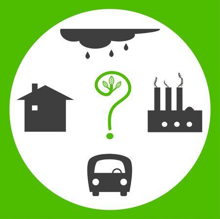 kwaśne deszcze: Natura zadać pytanie. Pojęcie złej ekologii roślin, samochodów, kwaśnych deszczów, działalność człowieka