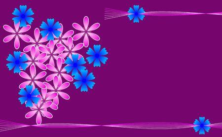 vinous: Flower vinous background with empty place for text