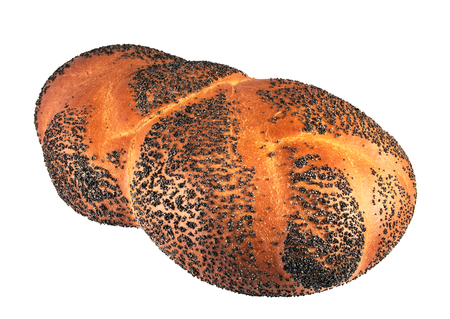 braided: Braided bread with poppy seeds