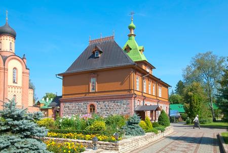 ida: KUREMAE, IDA-VIRUMAA COUNTY, ESTONIA - AUGUST 21, 2016: St Simeon and St Anna Church (Refectory) on the territory of Puhtitsa Dormition Convent of Russian Orthodox Church Editorial